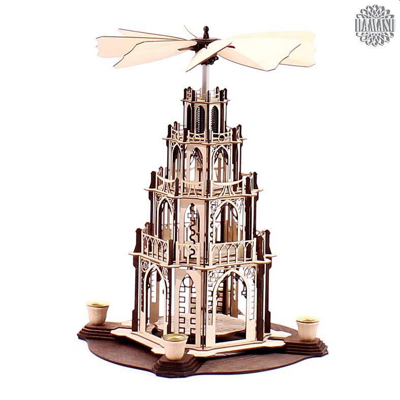 ein meisterst ck zum selber bauen unsere gotischen weihnachtspyramiden gibt es jetzt auch als. Black Bedroom Furniture Sets. Home Design Ideas