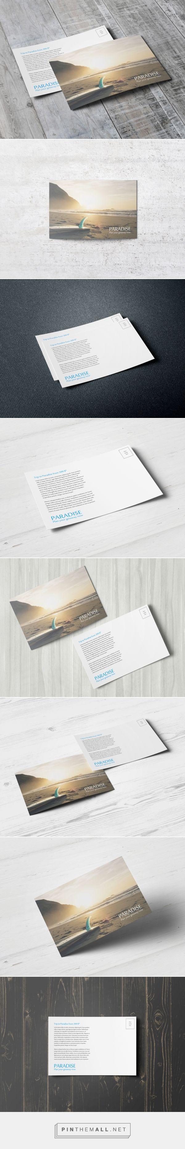 Postcard / Invitation MockUp [A6] (с изображениями)