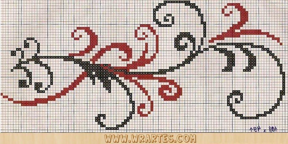 WR Artes (Blog do Wagner Reis): Letras REQUINTADAS MAIÚCULAS para ponto cruz