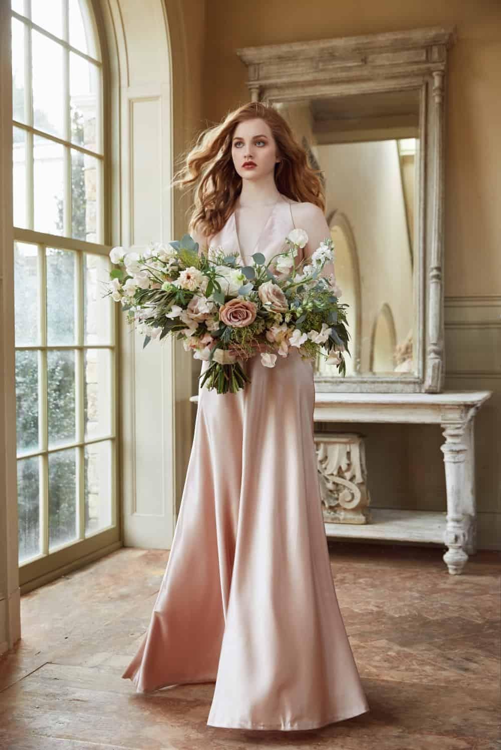 Blush Satin Crepe Bridesmaid Dress By Jenny Yoo Jennyyoo Bridesmaid Bridesmaiddresses Bridesmaid Dresses 2018 Wedding Dresses Satin Short Wedding Gowns [ 1497 x 1000 Pixel ]