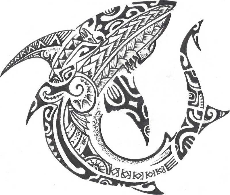 Polynesian Tribal Shark Tattoo Designs Valoblogi Com