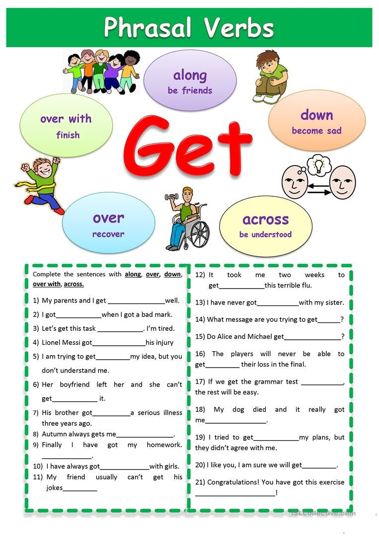 Phrasal Verbs Get Worksheet Free Esl Printable Worksheets Made By Teachers English Phrases English Prepositions English Language Learning [ 1079 x 763 Pixel ]