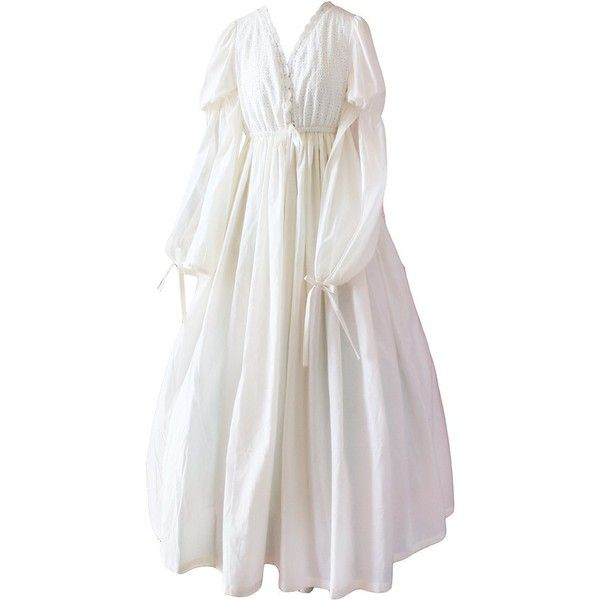 Ladies Vintage Design Nightdress White Romantic Classic Princess ... 90a410ffe