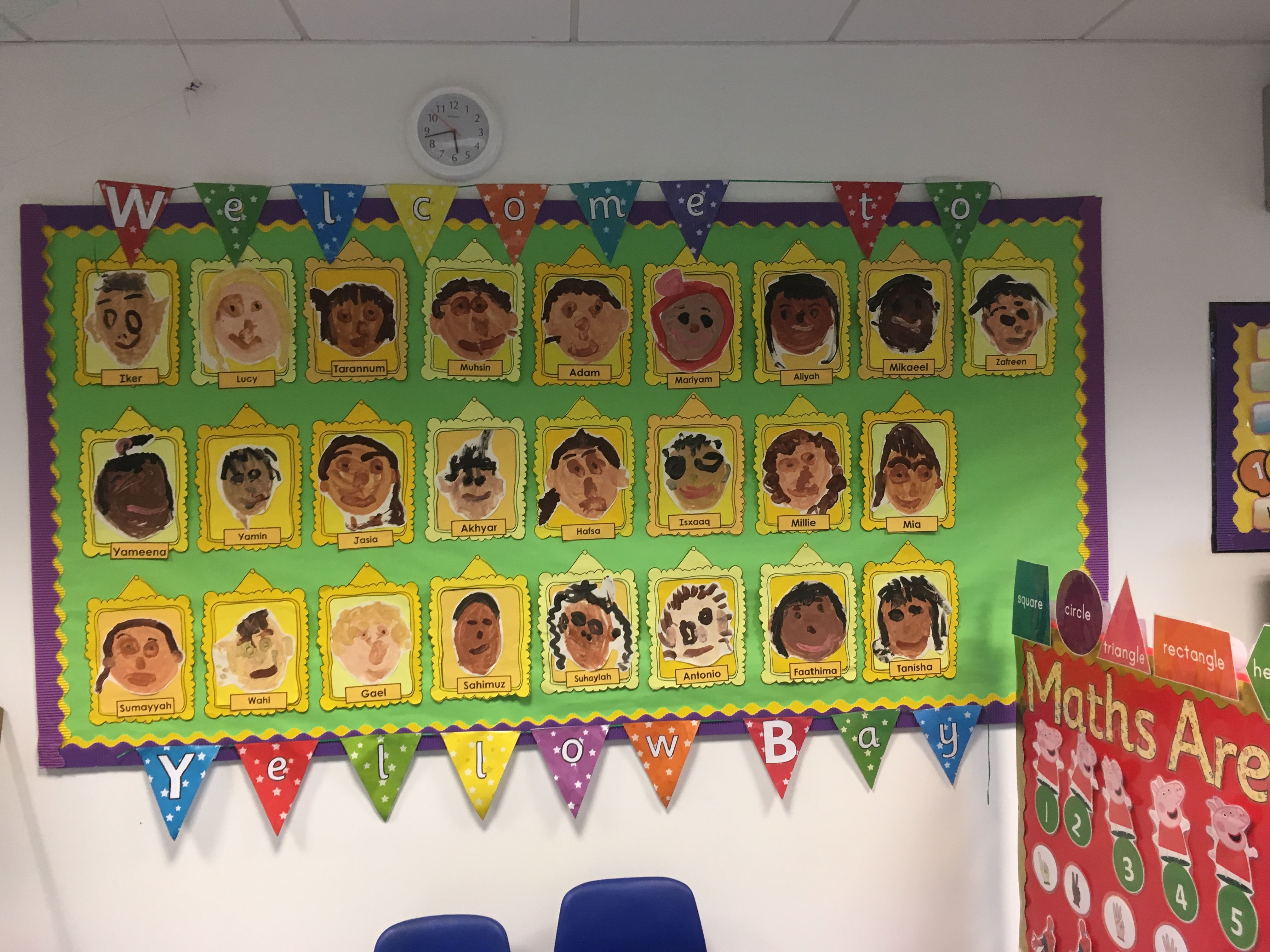 Self Portrait Eyfs Nurseryclass Display With Images