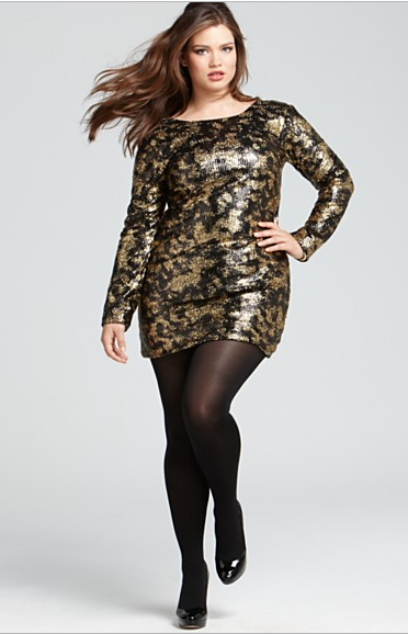 2. Plus size glitter dresses for Christmas Plus size