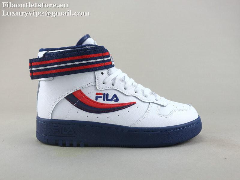 Fila Fth Tt Fx Men Women Unisex High Top Blue Leather Sneakers 36 44 5 Leather Sneakers Sneakers Retro Sneakers