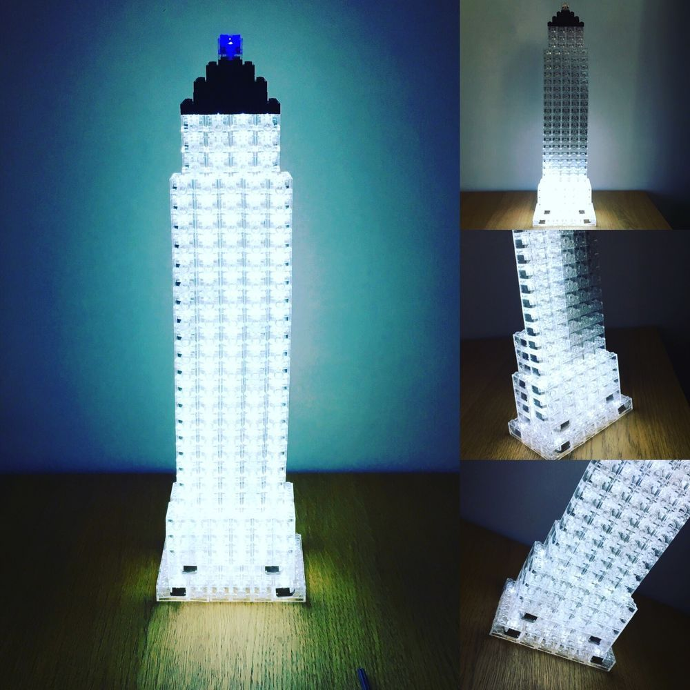 5 x LED LUNAR LIGHTS compatible with Lego Bricks Multi coloured FREE AXLE❤️