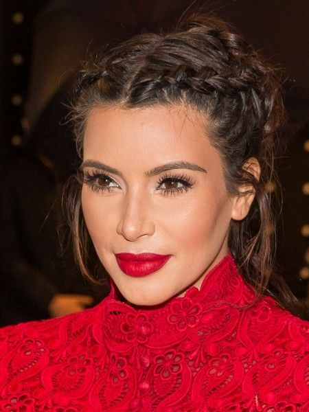 Pretty Braided Updo Hairstyles For 2016 Kim Kardashian Hair Kardashian Braids Kardashian Eyes