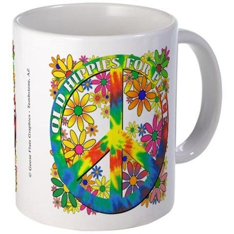 Old Hippies for Peace Mug on CafePress.com