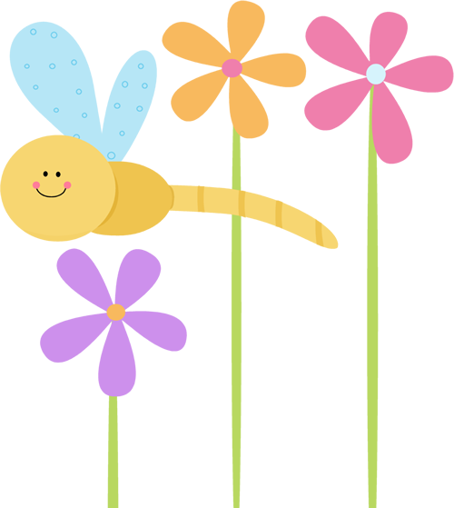 dragonfly clip art dragonfly and flowers clip art image cute rh pinterest com cute flower clipart free cute flower clipart png