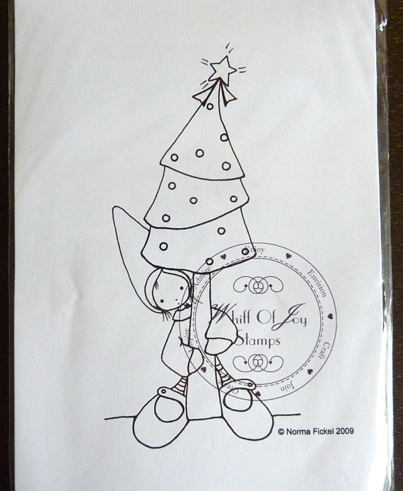 Wee Christmas Tree Gnome Rubber Stamp From Whiff Of Joy Stamping
