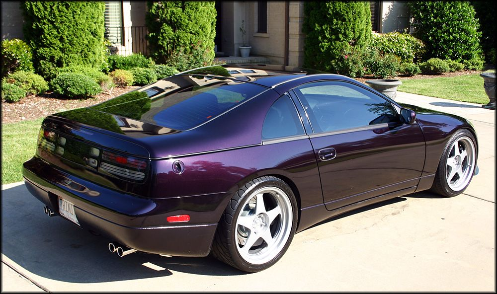 Z32 300zx Midnight Purple Slicktop on Desmond Regamaster ...