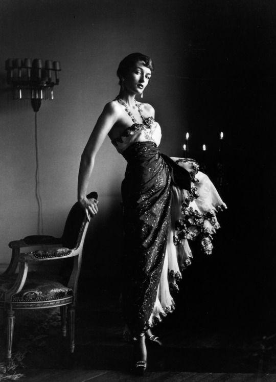 Maxime de la Falaise photographed by Gordon Parks, Paris, France, 1949