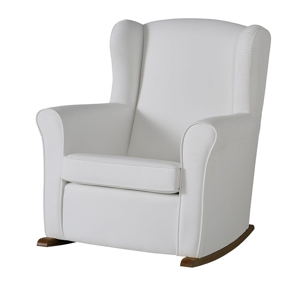 micuna butaca nursing chair white leatherette | nursery