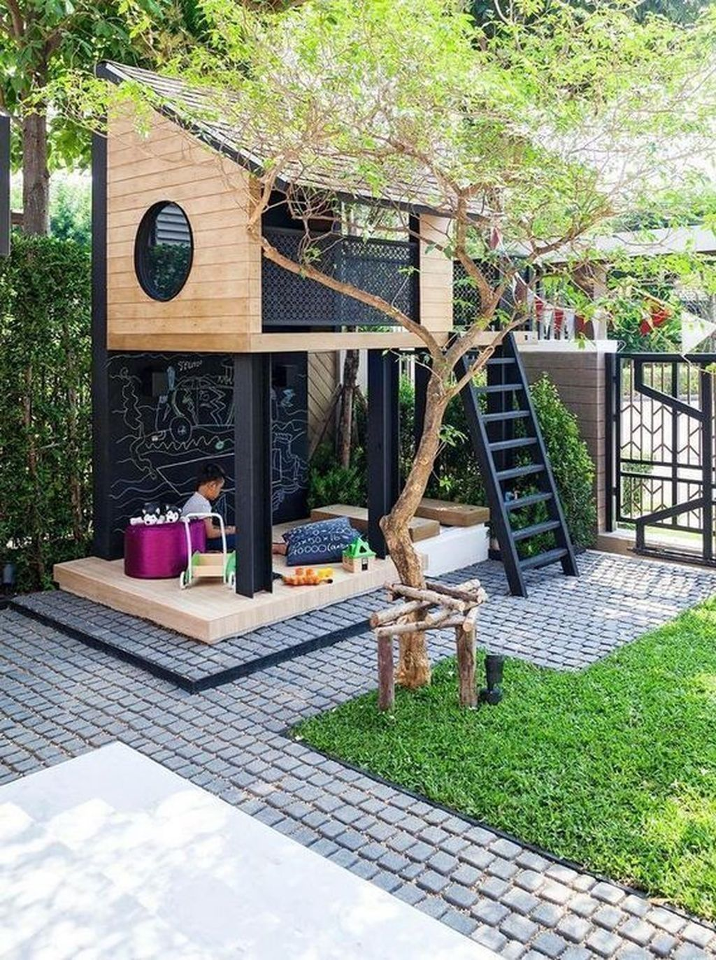 31 Captivating Backyard Patio Design Ideas With Play Kids You Have To Know - OMGHOMEDECOR