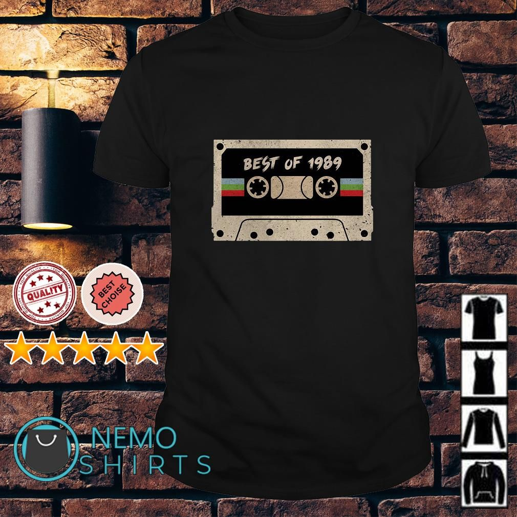 Cassette best of 1989 vintage shirt, hoodie, sweater and v