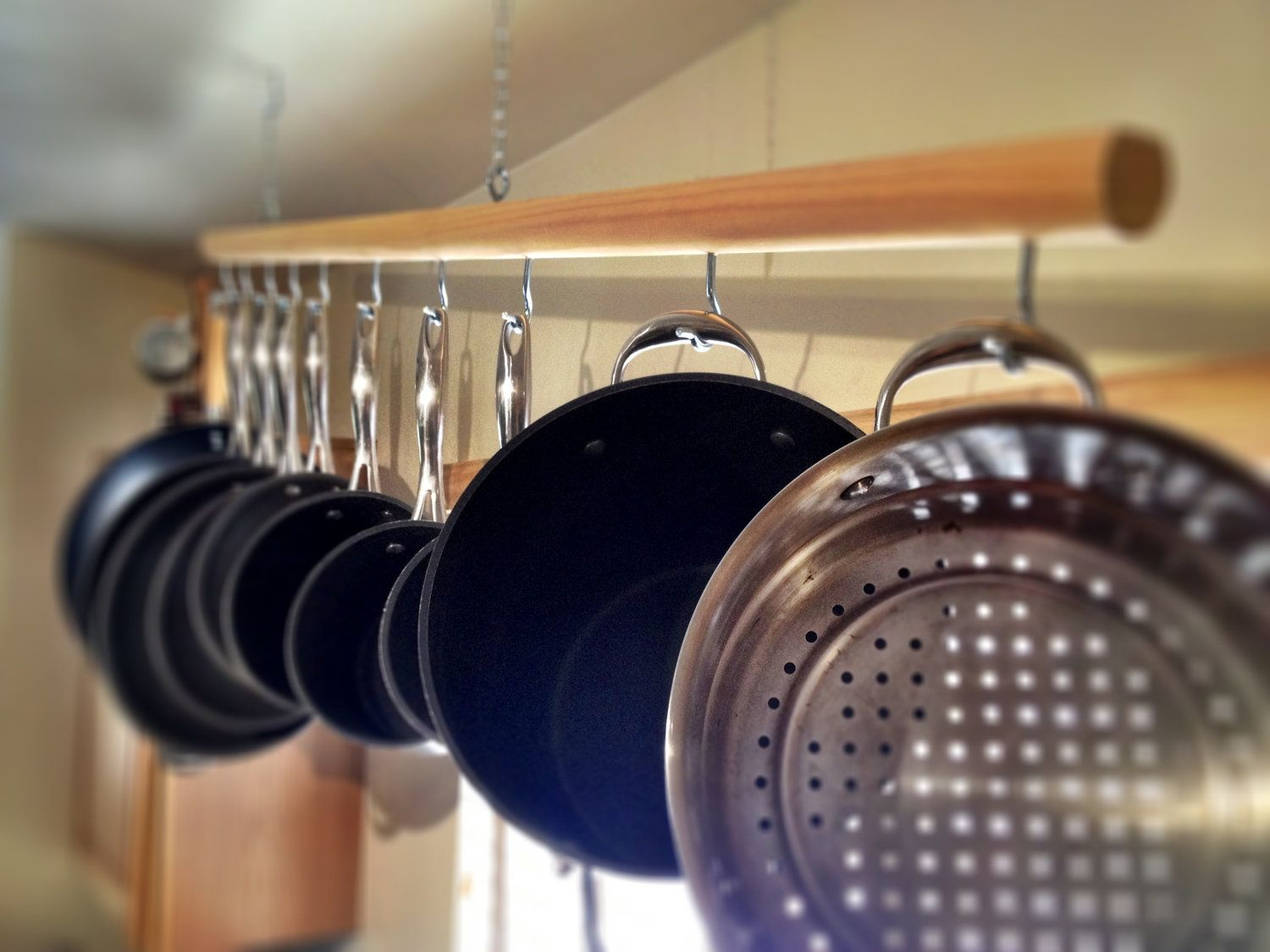 Hanging Pots And Pans On Wall how to choose the right rack for hanging pots and pans | pot rack