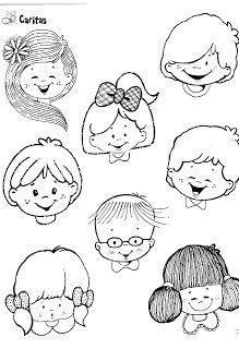 Fichas Infantiles Caritas Para Colorear E Imprimir Clip Art