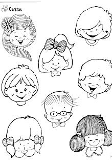 Fichas Infantiles Caritas Para Colorear E Imprimir Con Imagenes