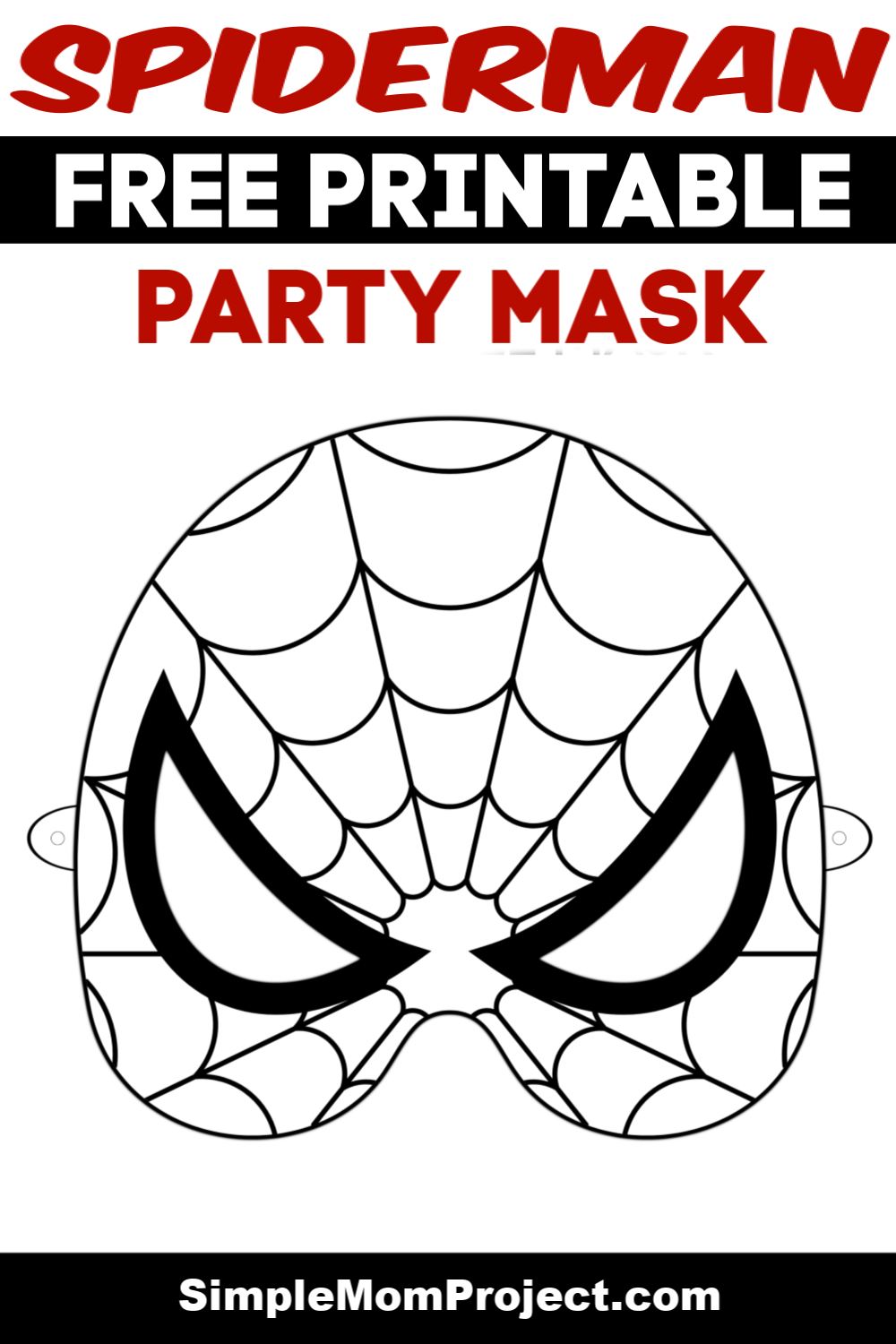 Are You Looking For Spiderman Birthday Party Ideas Use This Free Printable Boys Spiderman Mask Temp Face Masks For Kids Mask For Kids Spiderman Birthday Party