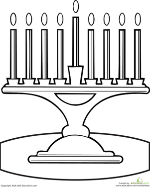 Menorah Coloring Page | Hanukkah | Pinterest | Hanukkah, Worksheets ...