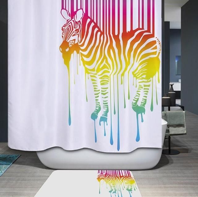 Zebra With Glasses Shower Curtain