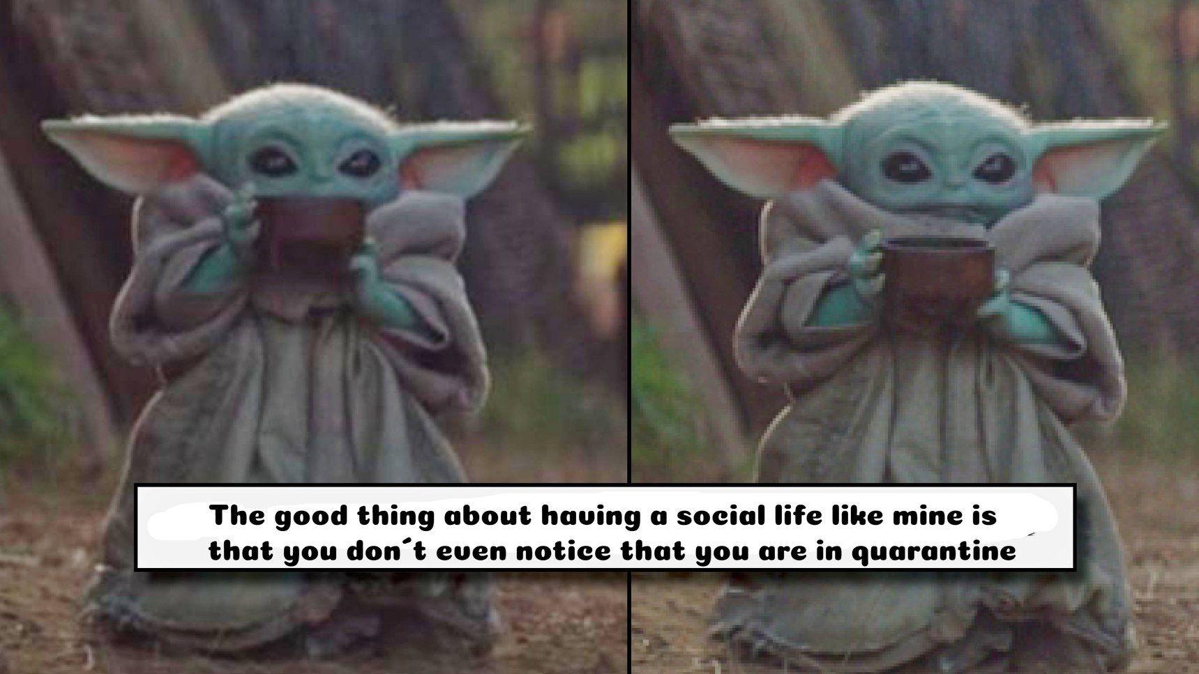 Baby Yoda Yoda Meme Yoda Funny Funny Faces Pictures