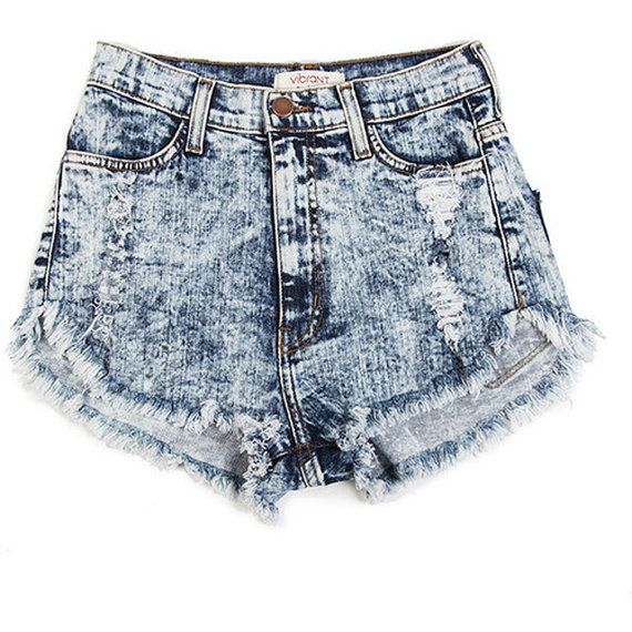 High Waisted Denim Shorts 80s Acid Wash by AradBoutique on Etsy ...