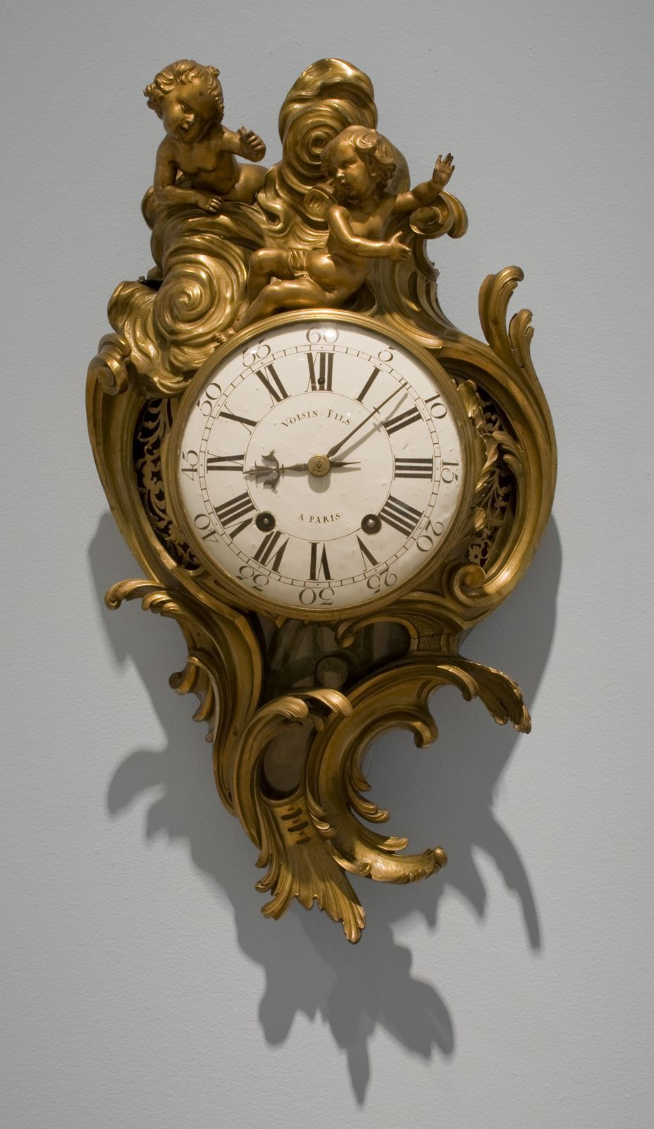Walls. Unknown artist   manufacturer  French    Wall Clock  Louis XV