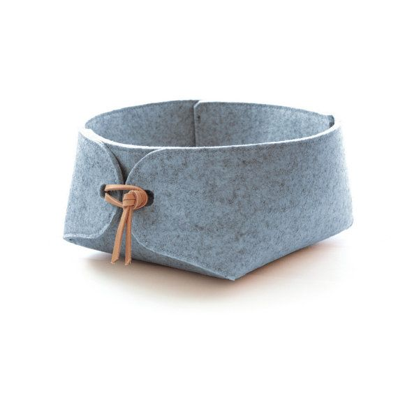 Storage container storage basket with natural leather ties
