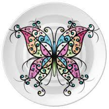 Resultado de imagen para pintura vitral sobre platos ceramica