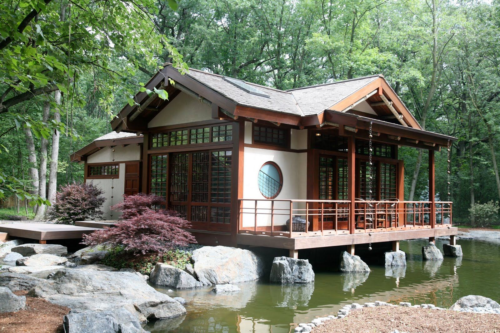 Exteriors of japanese houses asian inspired tea house Asian style homes