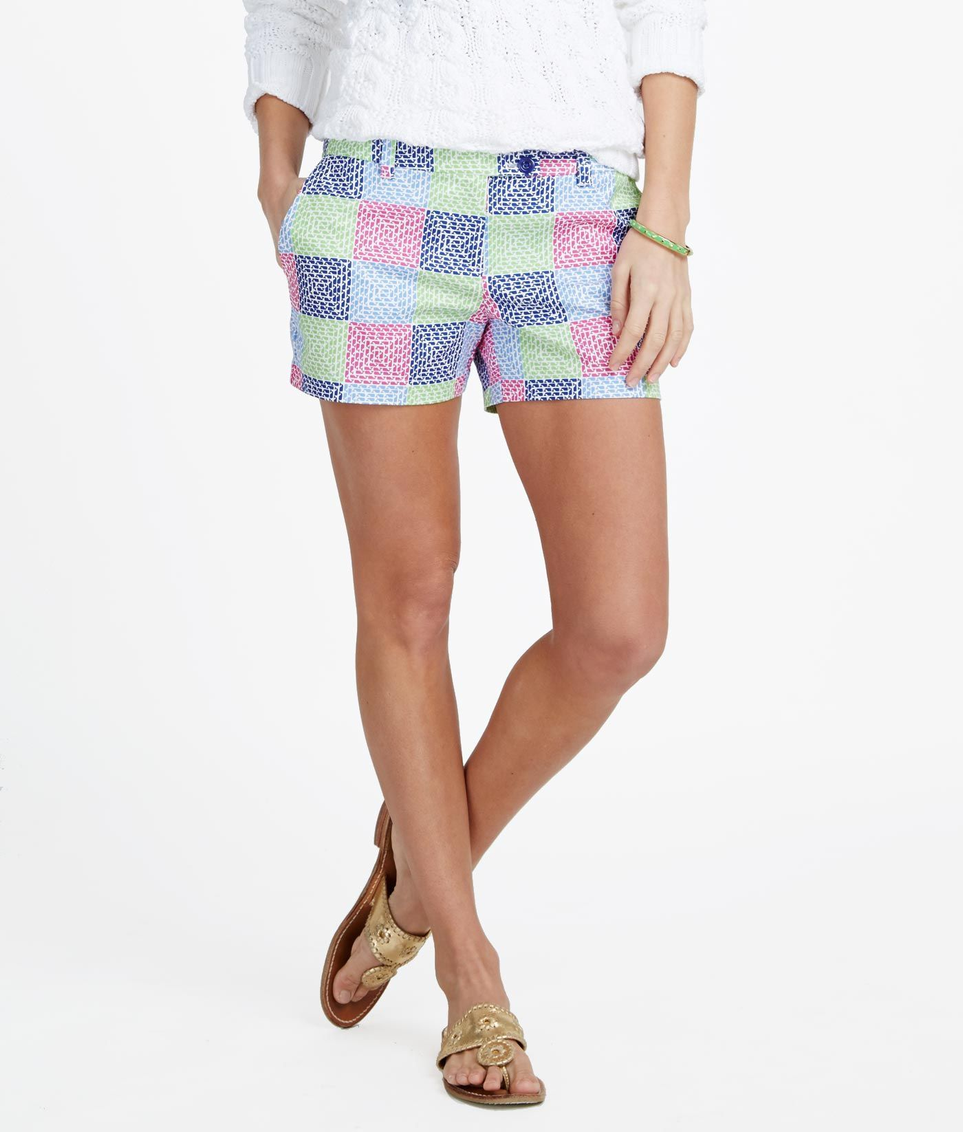 Womens Shorts: Whale Patchwork Dayboat Shorts – Vineyard Vines ...