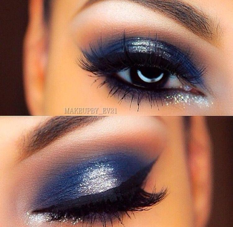 Ojos Noche Maquillaje Azul Maquillaje De Ojos De Noche Maquillaje Ojos Azules