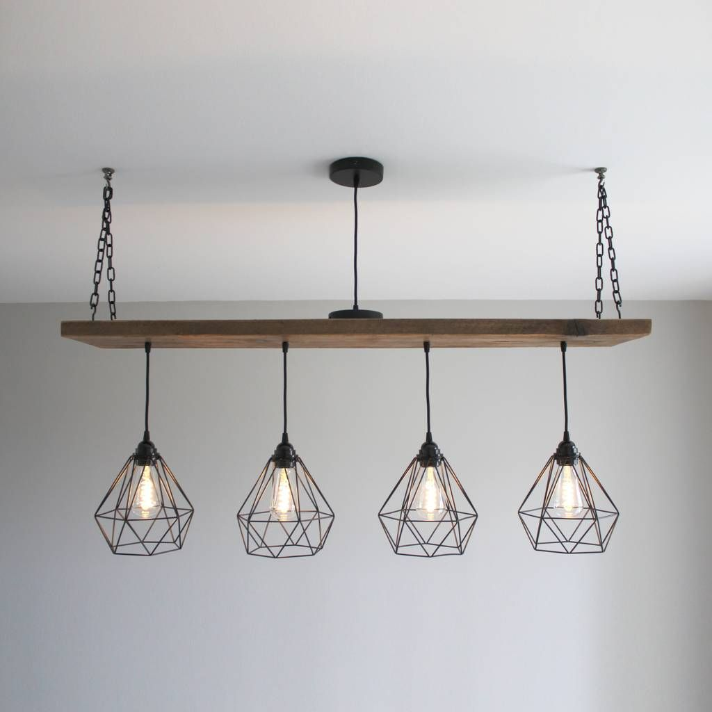 Photo of Solid Wood Beam Multi Industrial Light Oak Style