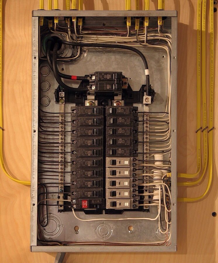 now that s one neat electrical panel cable electrical wiring rh pinterest com electric panel wiring diagram electrical panel wiring