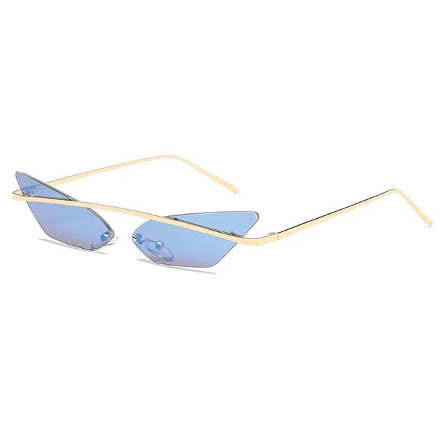 Women Vintage Mirrored Metal Frame Sunglasses Fashion Driving Eye Glasses