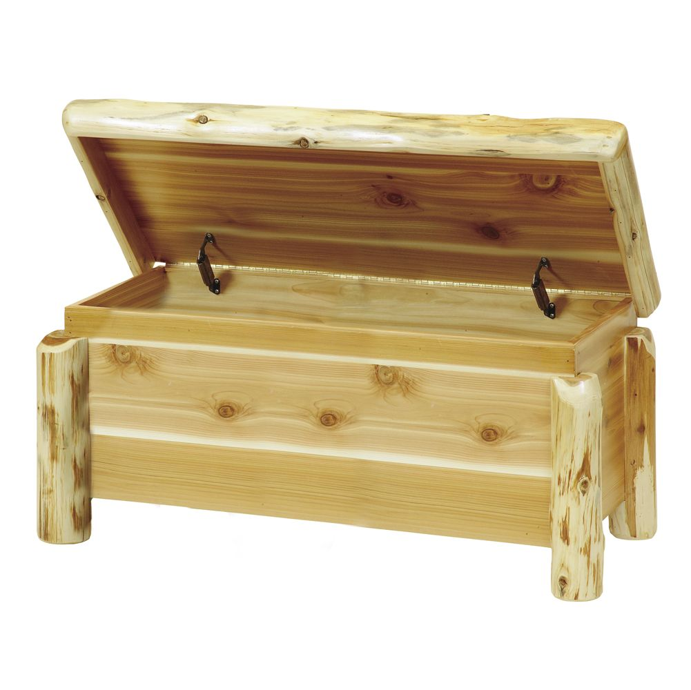A beautiful blanket chest for the foot of the bed.