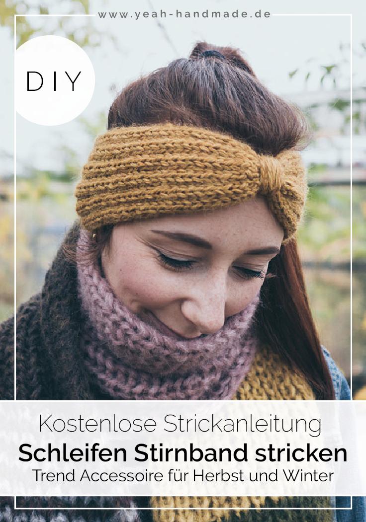 DIY Stirnband stricken: Schleife | Yeah Handmade DIY Projekte ...