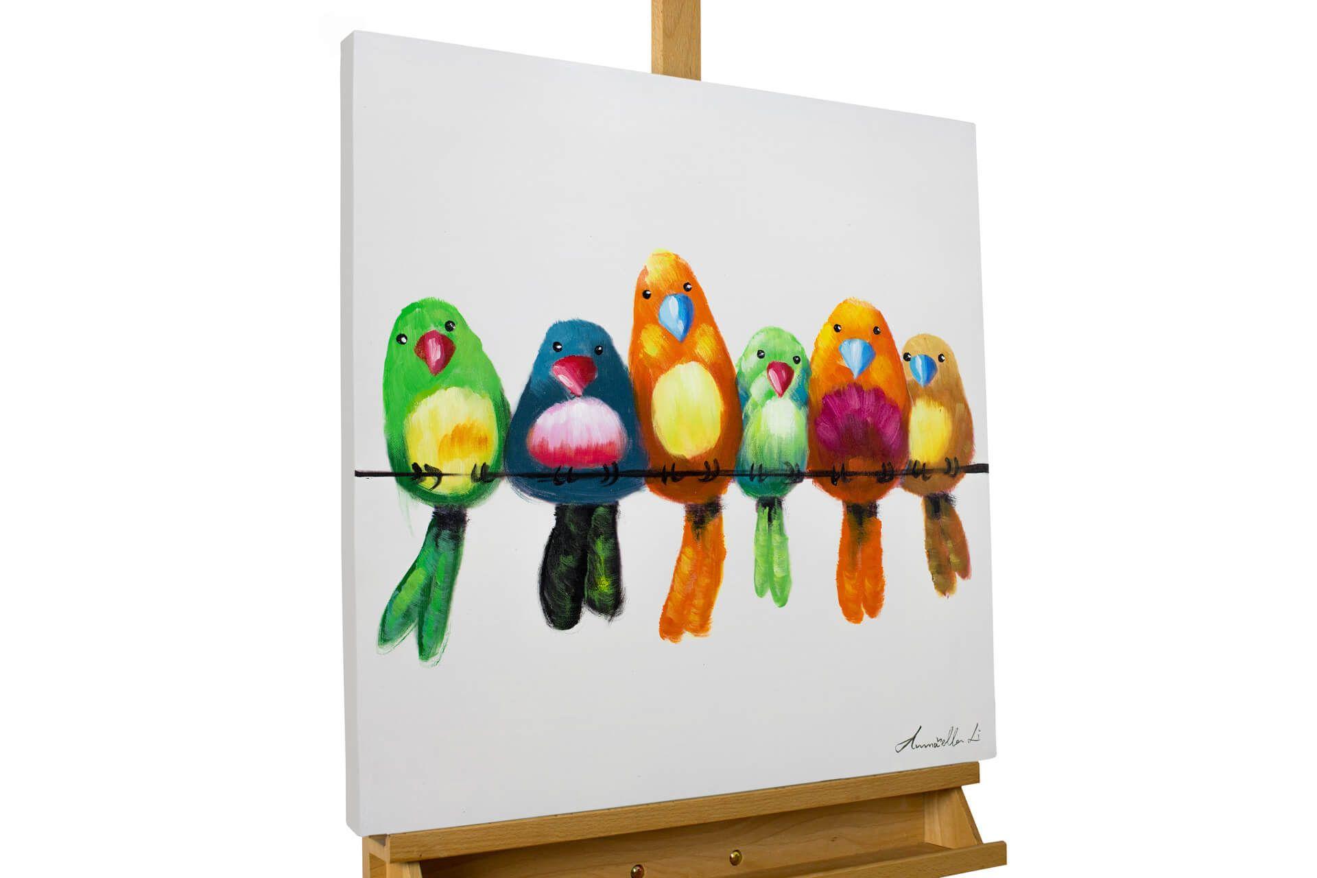 RUOPOTY Rahmen Vögel DIY Malen Nach Zahlen Acryl Auf Leinwand Handgemaltes