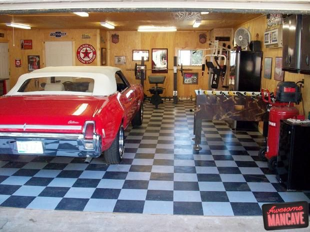 Man Cave Garage Art : Man cave with work out room foosball we ll take