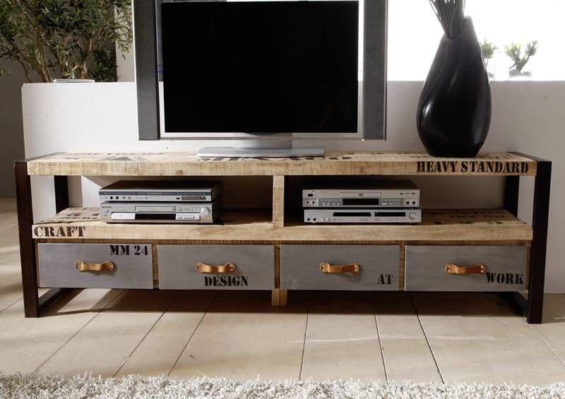 Wohnzimmer Board   Factory Tv Board 130 Eisen U Mangoholz Bedruckt Jetzt Bestellen