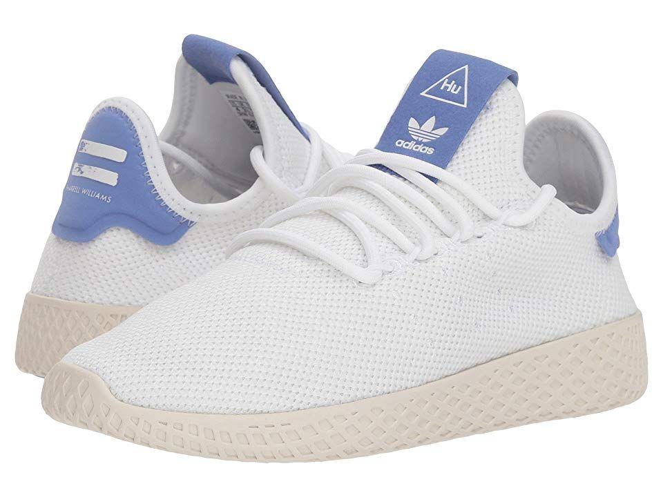 Adidas Originals Kids Pw Tennis Hu J Big Kid Kids Shoes White Blue Chalk White Adidas Adidas Pharrell Williams Adidas Originals