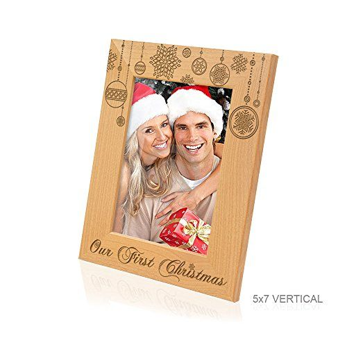 Kate Posh Our First Christmas Picture Frame 5x7 Vertical Read