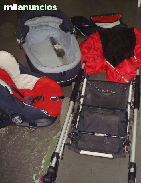 . Carrito tres piezas Vogue color el carrito comprende de maxi cosi, tumbona y carro , con funda acolchada, bolso  en buen estado