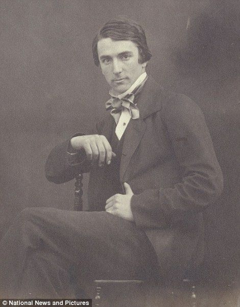 E J F Edwards portrait taken by long forgotten Victorian photographer Emma Johnston who documented the activities of her immediate circle and the many influential visitors to her family's home, Manor House, in Hampstead, London England.