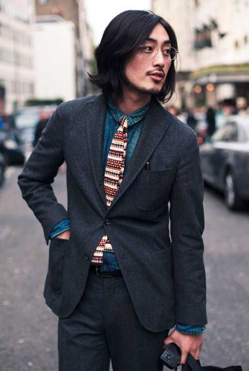 Asian hair long man style