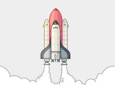 Illustration Of Rocket Launch Illustration Vector Illustration Graphic Design Logo