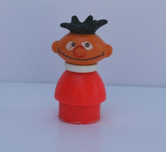 Vintage Fisher Price Little People Sesame Street Ernie by Modnique, $12.99