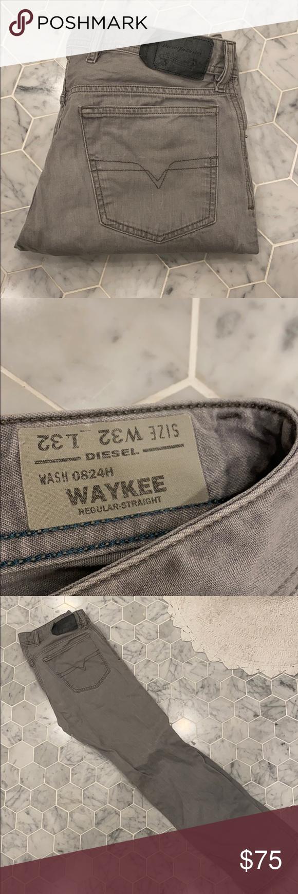 Diesel Jeans light gray Diesel Jeans Light gray W-32 L-32 Waykee Regular straight Wash- 0824H Diesel Jeans Straight